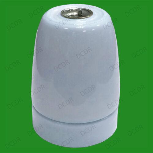 1x Pale Blue Glazed Ceramic E27 Light Bulb Holder ES Socket M10 Entry