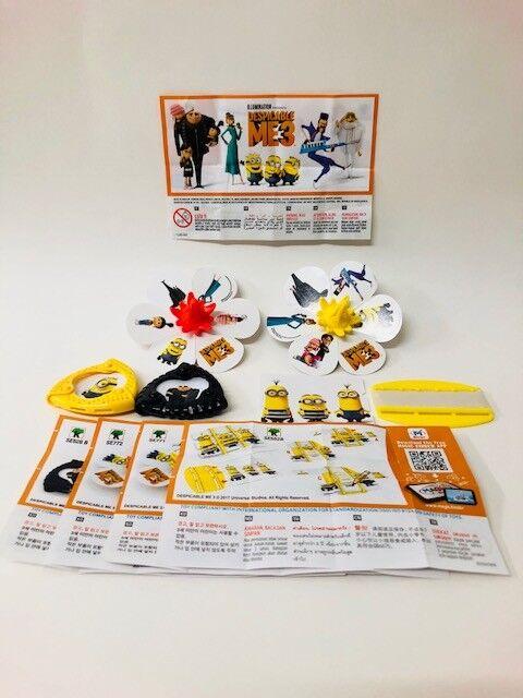 Kinder Surprise Minions 3 Despicable Me Toys Set All 4 BPZ Rare 2018 ASIA