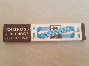 e51bf0d1f Vintage Koh-I-Noor 2200-HB Graphite Leads SCATOLA COMPLETA DELLE ...