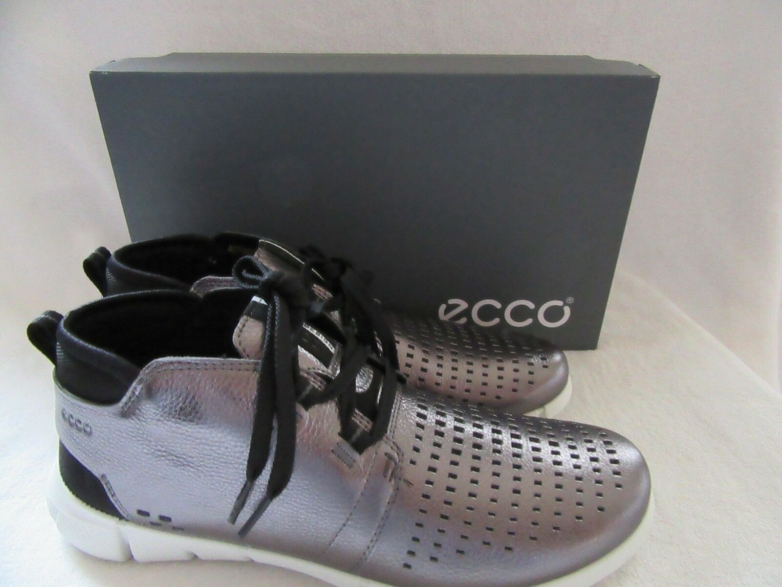 ECCO Intrinsic Dark Shadow Metallic Chukka Leather Shoes US 9 - 9.5 NWB