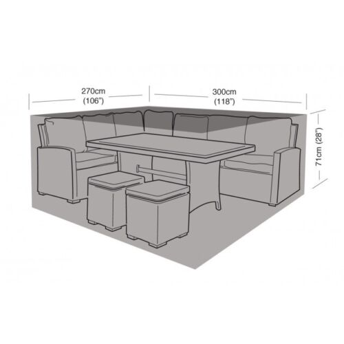 Garland Deluxe Large Corner Casual Dining Garden Furniture Set Cover W1645