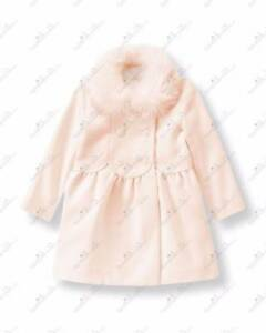 7204ee32b NWT Janie and Jack CENTER STAGE 12 18 M Pink Faux Fur Trimmed Coat ...