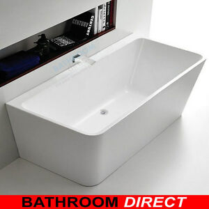 Details About Bda Aqua 1500 Wall Faced Free Standing Bath Back To Wall Freestanding Bath Tub