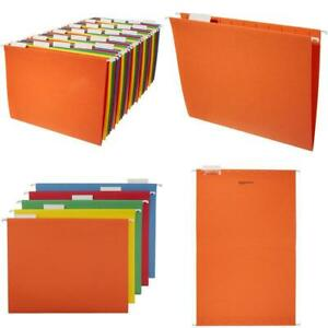 Filing Cabinet Suspension Files A4 Size Organizer with Plastic Tabs Pack of 20