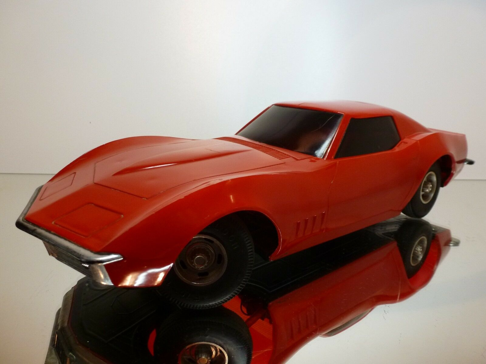 ELDON JAPAN PLASTIC CHEVROLET CORVETTE - RED L35.0cm L35.0cm L35.0cm BATTERIE - GOOD CONDITION 4f486d