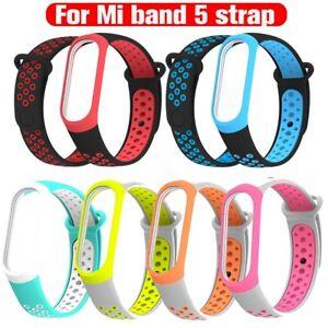 Fuer-Xiaomi-MI-Band-5-Weich-Ersatz-Armband-Zweifarbig-Band-Band-Armband