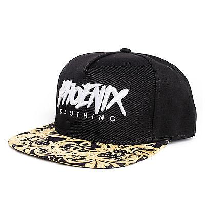 Phoenix Legendary Snapback Cap Hat Floral Casquette Gold Caps Baseball Cappy
