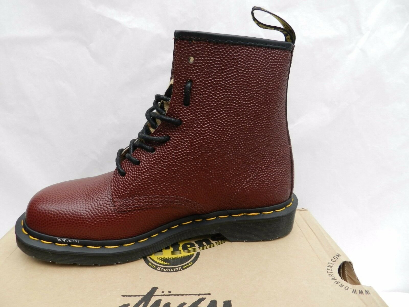 Dr Martens 1460 Stussy shoes 41 Bottes Red Cheetah Edition Limitée UK7 Neuf