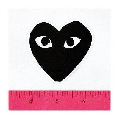 Play Heart Black Skateboard Car Window Bumper PVC Laptop Clear Decal Sticker