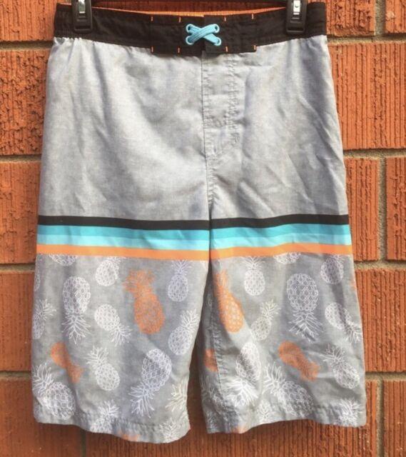 a8bf3bfb6e Buy Cat & Jack Boy's Swim Trunks Pineapple Toss UPF 50 XL 16 online ...