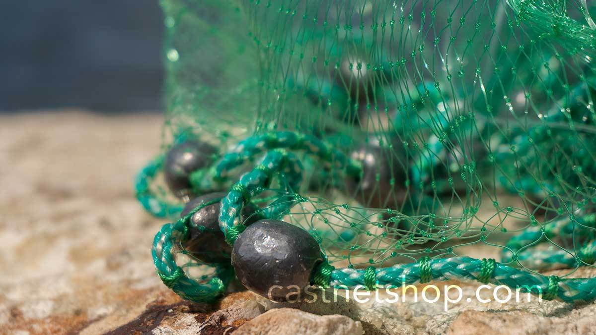 """Bait Buster 12 ft environ 3.66 m Maille Mullet Cast Net CML-MB12-NO DRN CMu Rayon 1-1//4/"""" SQ"""