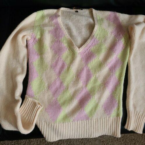 Loro piana argyle women's cashmere sweater