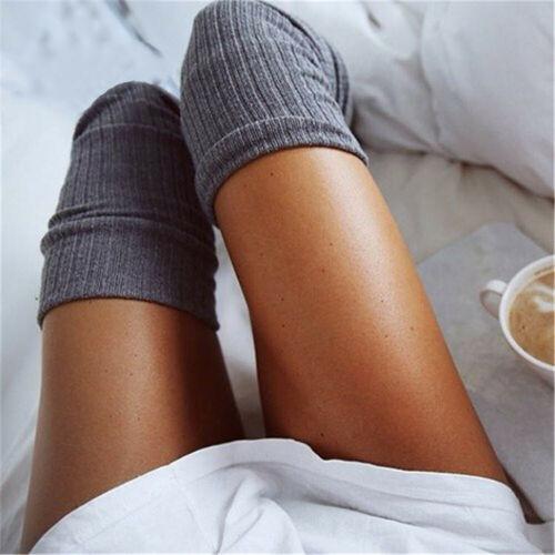 USA Winter Warm Womens Knit Crochet Cotton Thick Long Socks Thigh-High Leggings