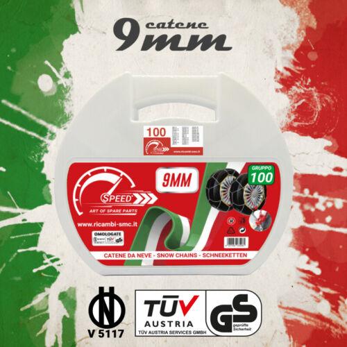 CATENE DA NEVE OMOLOGATE SPEED 9mm PER GOMME 225//45 R 18 GRUPPO 100