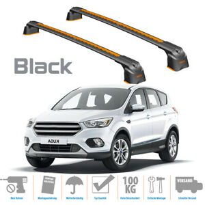 with open roof rails Roof Rack Cross Bars silver ALU for Ford Kuga II 12