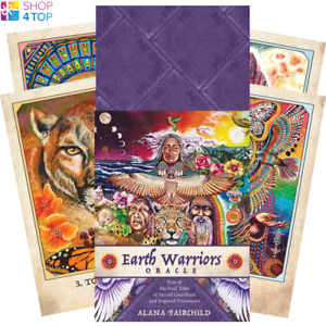 Earth-Warriors-Oracle-Deck-Cards-Esoteric-Fortune-Telling-Blue-Angel-New