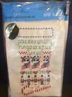 Christmas Stocking Kit Cross Stitch Already Stitched Add Personal Touch Sealed