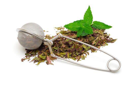 2 Pack Tea Infuser for Loose Leaf Tea Long Handled Mesh Snap Ball Tea Strainer