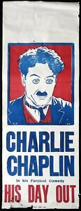HIS-DAY-OUT-Long-Daybill-Movie-poster-c1918-Charlie-Chaplin-Billy-West