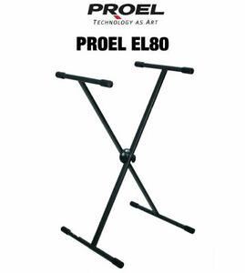 PROEL-EL80-SUPPORTO-REGOLABILE-PER-TASTIERA-PIANOLA-CONSOLLE-CONTROLLER-DJ-MIXER