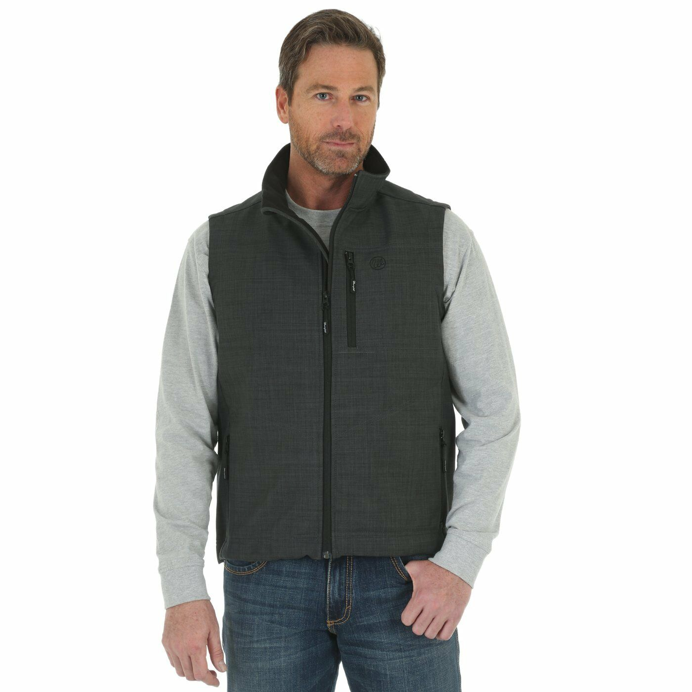 MJK018H WRANGLER® TRAIL VEST CHARCOAL- FREE SHIPPING  - No Tax Sell