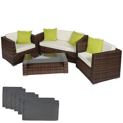 Luxury Rattan Aluminium Garden Furniture Sofa Set Outdoor Wicker brown-black
