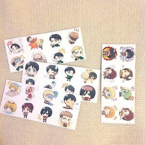 N Hot Anime Attaque sur Titan Carte 10pcs//set Paster Carte Autocollant de crédit