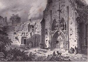 Gravure-XIXe-Chateau-de-Tallard-Hautes-Alpes-Lithographie-1835
