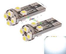 2x Bombillas 8 LED SMD CANBUS T10 W5W Coche Posicion interior Blanco Xenon 6500K