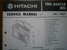 HITACHI TRK-5601LR Radio tape recorder Service manual 1980 wiring parts diagram