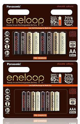 Panasonic eneloop Chocolat Recharge NiMH 8 x AA 2000mAh + 8 x AAA 800mAh Battery