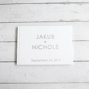 Personalized-Guest-Book-Silver-Calligraphy-Alternative-Guestbook-Custom-Names