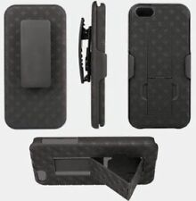 New Black Shell Holster Case Belt Clip Combo + Kick stand for Apple iPhone 5 5S
