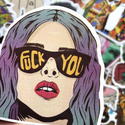 48 Pieces Stickers Skateboard Sticker Bomb Graffiti Laptop Car Luggage Decals