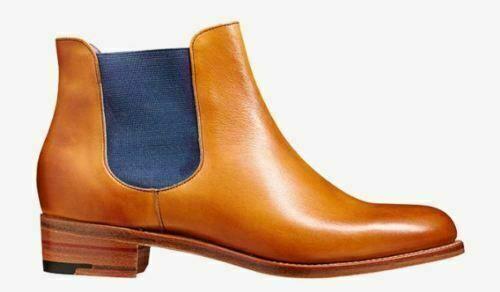 Damen handgemacht echtes bräunen Leder Formal Chelsea Stiefel     40dfec