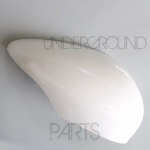 FIESTA-RIGHT-DRIVER-SIDE-DOOR-WING-MIRROR-COVER-CAP-CASE-PAINTED-FROZEN-WHITE