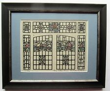 Original stained glass window design, watercolour, Florence Camm Smethwick c1930