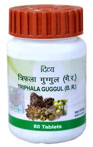 Details about Divya Ayurvedic Triphala Guggul - 80 Tablets