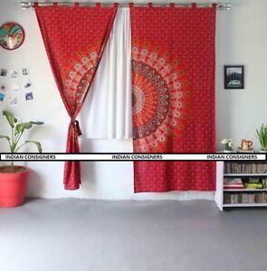 Indian-Cotton-Ethnic-Ombre-Mandala-Wall-Hanging-Curtain-Door-Window-Cover-Drape