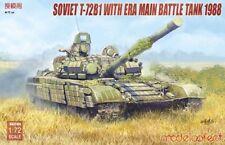 Modelcollect UA72104 1/72 Model Kit Soviet T-72b1 With Era Main Battle Tank 1988