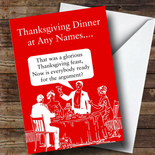 funny family argument personalised thanksgiving card ebay