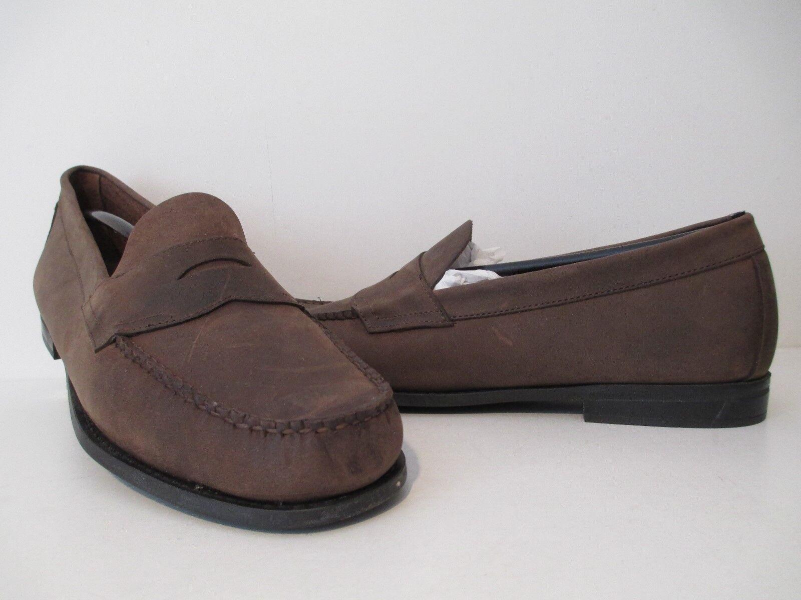 Bass Mens Casson Leather Slip On Penny Loafer Dress schuhe Dark braun Größe 11.5 D