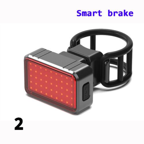 Gravity Sensing LED USB Rechargeable COB Smart Brake Bike Rear Taillight Chic