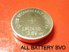 BATTERIA RICARICABILE al Litio 3,6 V - 140 mAh Tipo a bottone LIR2450