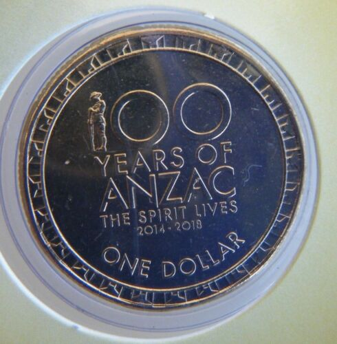 100 Years of ANZACS Downies Packaging 2014 Australian $1 Carded Coin