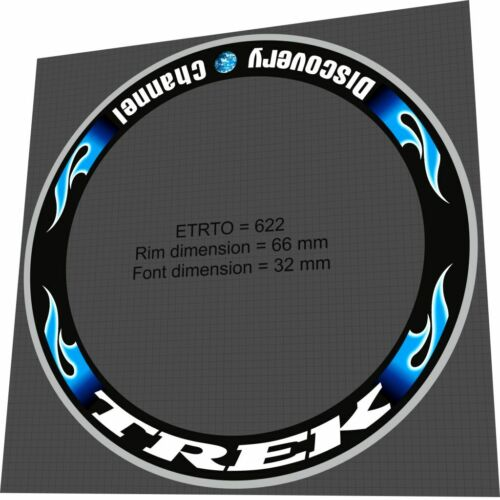 Decal Set for two wheels TREK Discovery Channel 66 mm Rim Sticker