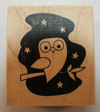 Memory Box Night Hoot Hoot Owl Woodland Creature Wood Mounted Rubber Stamp