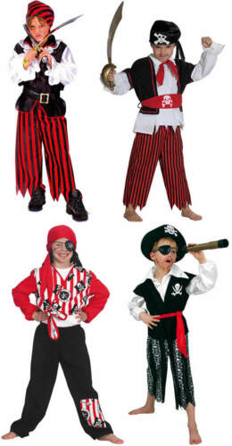 Pirata jóvenes piratas niños carnaval carnaval disfraz 104-164