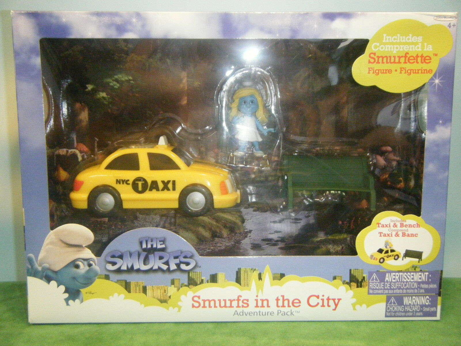 THE SMURFS IN THE CITY PLAYSET WITH WITH WITH SMURFETTE FIGURE NEW 210f7a