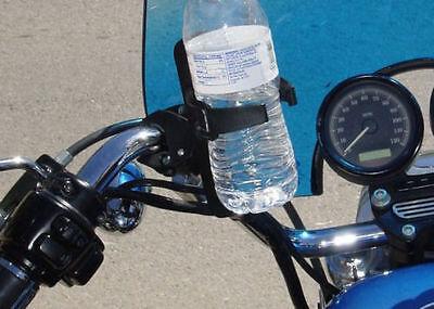"Black Cup Drink Holder for 1//2/"" 1-3//4/"" Handlebars Harley Honda Yamaha Suzuki"
